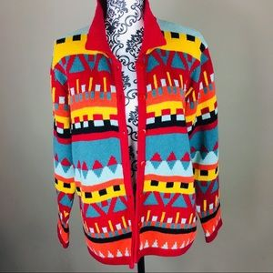 Vintage oversized boho retro sweater cardigan